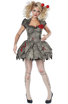 Brand New Creepy Voodoo Outfit Halloween Rag Doll Costume Adult Women](Halloween Costume Rag Doll)