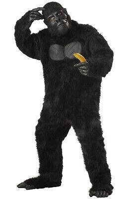 Brand New Gorilla King Kong Men Suit Adult Halloween Costume - Adult King Costumes