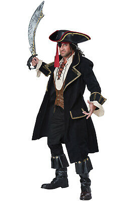 Brand New Deluxe Pirate Captain Men Adult Costume