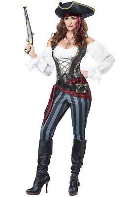 Adult Women Pirate Costumes (Brand New Brazen Buccaneer Pirate Women Adult)
