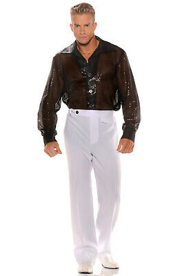 Brand New Shiny Black Sequin Shirt Adult Costume