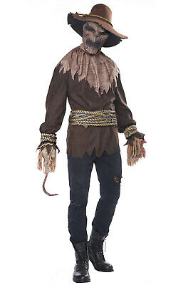 Brand New Killer in the Cornfield Horror Scarecrow Adult Halloween Costume](Make Orca Halloween Costume)