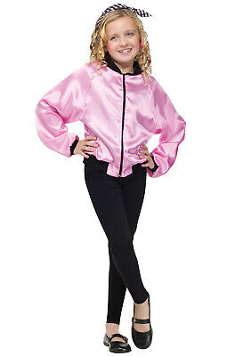 Brand New 50's Pink Ladies Jacket Child Costume - Kids Pink Lady Jacket