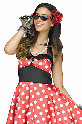 Brand New 50s Vintage Pinup Beehive Baby Costume - Pin Up Baby Kostüm