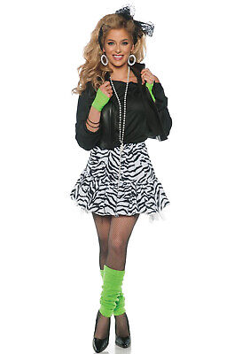 80s Madonna Costumes (Rockin' The 80's Madonna Animal Print Black/White Adult)