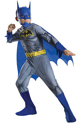 Brand New Superhero Blue Batman Child Costume](Blue Batman Costume Kids)