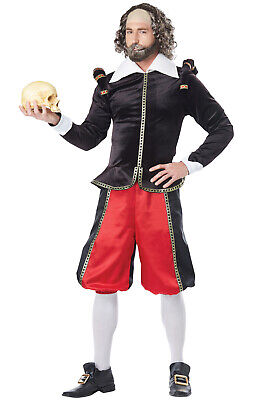 Brand New William Shakespeare Medieval Renaissance Faire Adult - William Shakespeare Kostüm