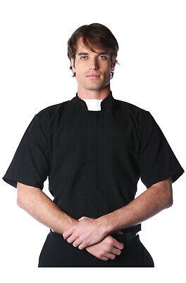 Priest Shirt Costume (Short Sleeve Priest Shirt Adult Costume)