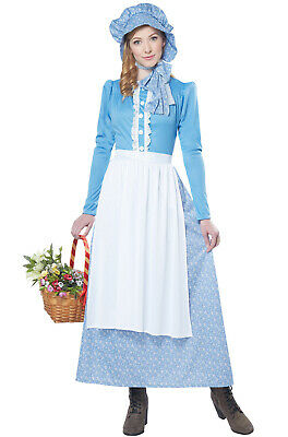 Brand New Colonial Pioneer Woman Adult Costume - Womens Colonial Costume