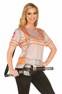 Brand New Ghostbusters Female T-Shirt Adult Costume - Ghostbusters Female Costume