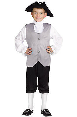 Brand New American Colonial Boy Child Costume