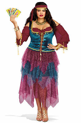 Brand New Gypsy Fortune Teller Plus Size Costume - Gypsy Costume Plus Size