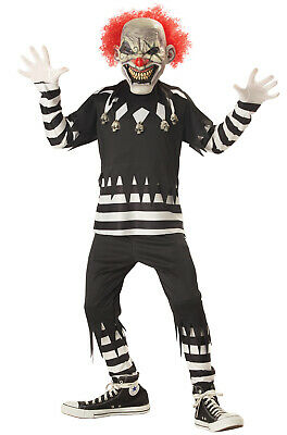 Brand New Scary Creepy Clown Child Halloween Costume](Scary Clown Kids Costumes)