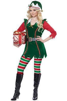 Santa Elf Costume (Santa Festive Elf Christmas Adult)