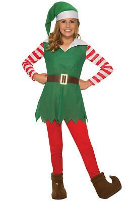Brand New Santa's Helper Girl Christmas Elf Child Costume (Small)