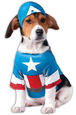 Captain America Pet Costume (Marvel Superhero Captain America Pet Dog)