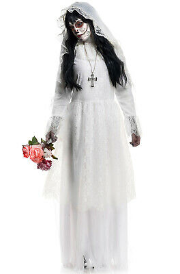 Brand New Day of the Dead Nightshade Ghost Bride Adult Costume - Day Of The Dead Bride