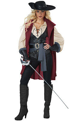 Lady Musketeer Three Musketeers Medieval Renaissance Faire Adult Costume