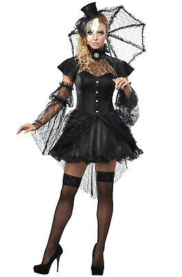 Sexy Mardi Gras Victorian Doll Dress Burlesque Adult Halloween Costume