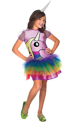 Brand New Lady Adventure Time Rainicorn Girls Child Costume