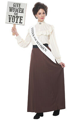 Brand New English Suffragette Victorian  Adult Costume](Adult Victorian Costume)