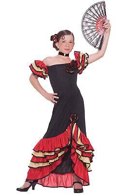 Flamenco Costume Girl (Flamenco Spanish Dancer Girl Child Costume)
