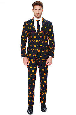 Brand New Black-O Jack-O-Lanterns Pumpkin Suit Adult Costume