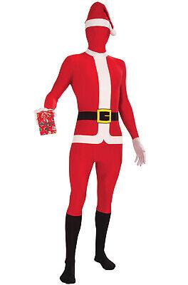Santa Claus Skin Suit Christmas Adult Costume (XL)