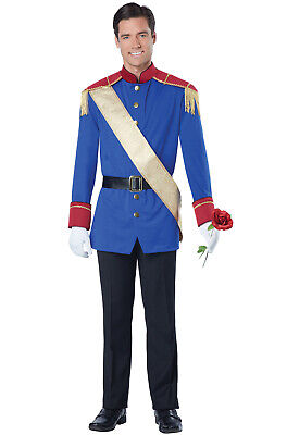 Brand New Storybook Charming Prince Fairytale Adult Men Costume - Adult Prince Charming