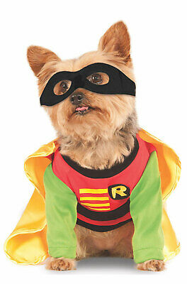 Brand New DC Comics Batman Robin Superhero Pet Dog - Batman Robin Hunde Kostüm