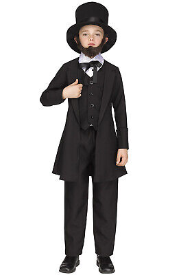 Brand New Uncle Abraham Lincoln Child Costume - Abraham Lincoln Kids
