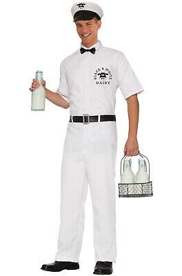 Brand New Classic 1950's Milkman Adult Costume](Milkman Adult)