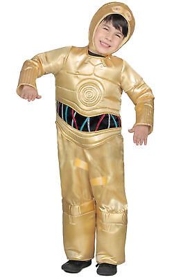 Star Wars Premium C-3PO Child Costume Halloween New Kids Droid SM or LG C3PO - Child C3po Costume