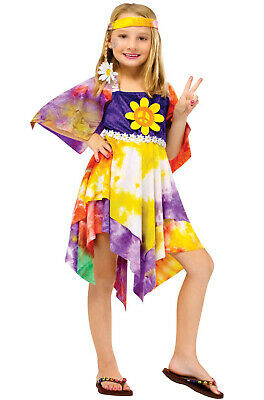 Brand New Tie Dye Hippie Child Costume