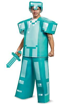 Mine Craft Halloween Costumes (Minecraft Armor Prestige Mojang Video Game Fancy Dress Halloween Adult)
