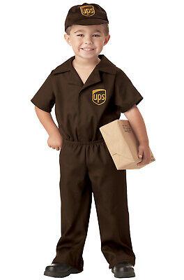 UPS Delivery Guy Licensed Uniform Boys Toddler Costume](Delivery Costume)