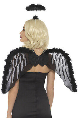 Brand New Fallen Angel Dark Angel Wings and Halo Set (Angel Wings And Halo Set)