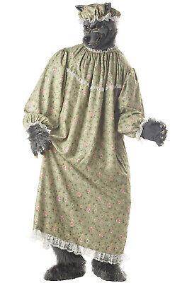 Big Bad Wolf Halloween Costume Men (Brand New Big Bad Wolf Granny Adult)
