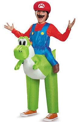 Super Mario Brothers Mario Riding Yoshi Nintendo Child Costume](Baby Mario Costumes)