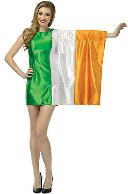 Brand New Ireland Country Flag Dress Adult - Ladies Halloween Costumes Ireland