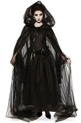 Brand New Black Hooded Adult Cape Cloak