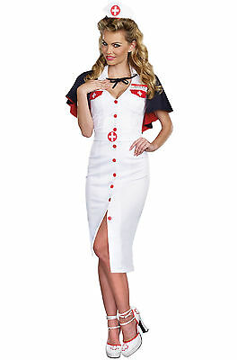 SEXY PIN UP ERA NURSE Adult HALLOWEEN COSSPLAY Costume Woman Size Small NEW WWII - Pin Up Halloween Costumes