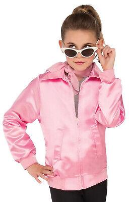 Pink Ladies Kids Costume (Brand New Grease Pink Ladies 1950s Jacket Child)