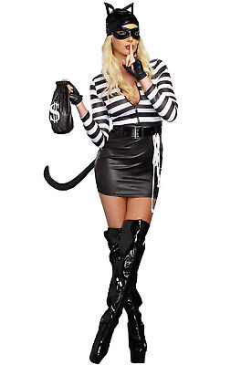 Cat Woman Outfit (Cat Burglar Women Dress Outfit Adult)