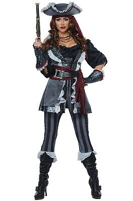 Captain Blackheart Pirate Men Adult Costume - Pirate Costumes For Men