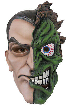 Brand New DC Comics Batman Villains Two-Face Deluxe Latex Adult Mask