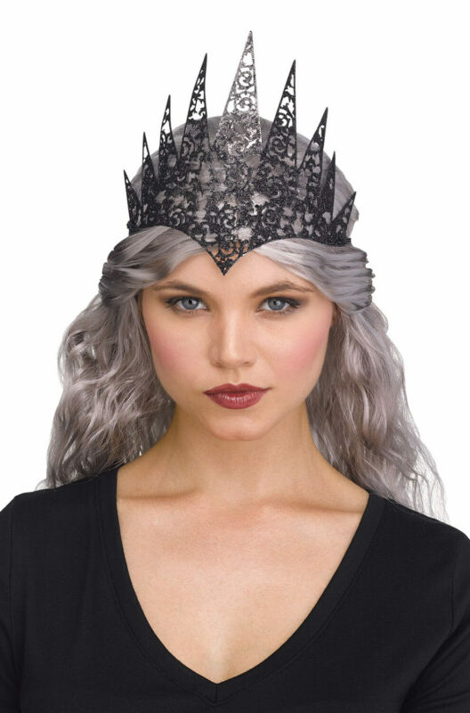 Glitter Queen Crown (Black)
