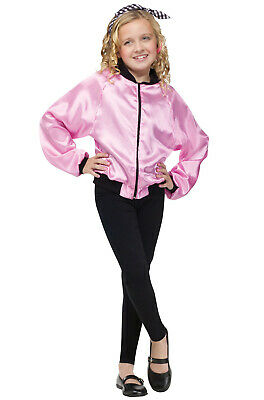 Pink Ladies Kids Costume (50's Pink Ladies Jacket Child)