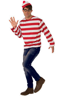 Brand New Where's Waldo Adult - Where's Waldo Kostüm