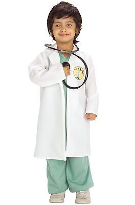 Little Doctor Outfit Jumpsuit with Lab Coat Toddler Costume](Toddler Doctor Costume)